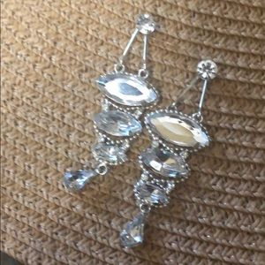 Tiered Rhinestone Earrings